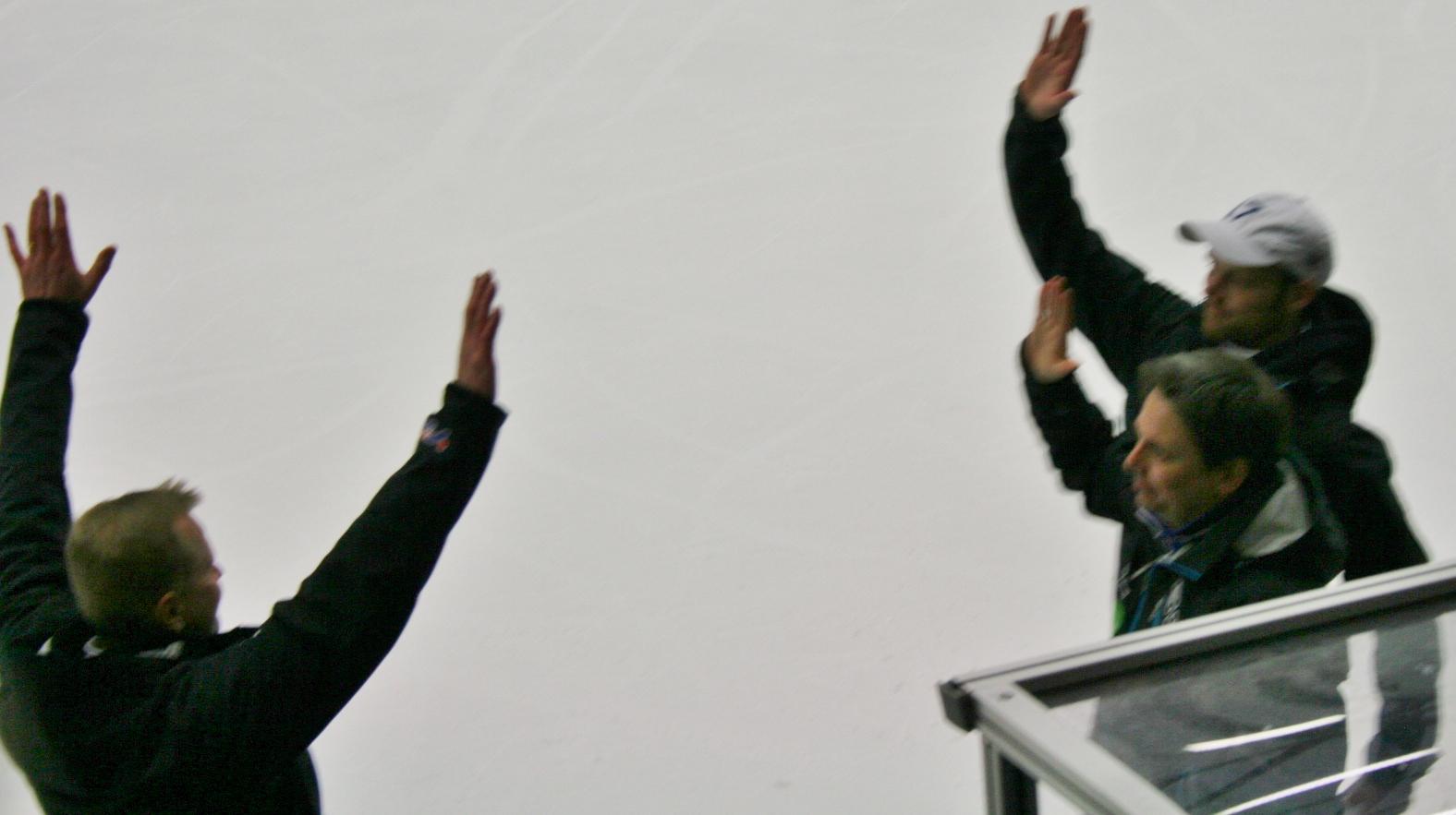 Arkivbild. Magnus Nordin, här som tränare tillsammans med Ari Holopainen och Mattis Nilsson i Villa Lidköping.