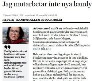Sjöstedt SVD-debatt