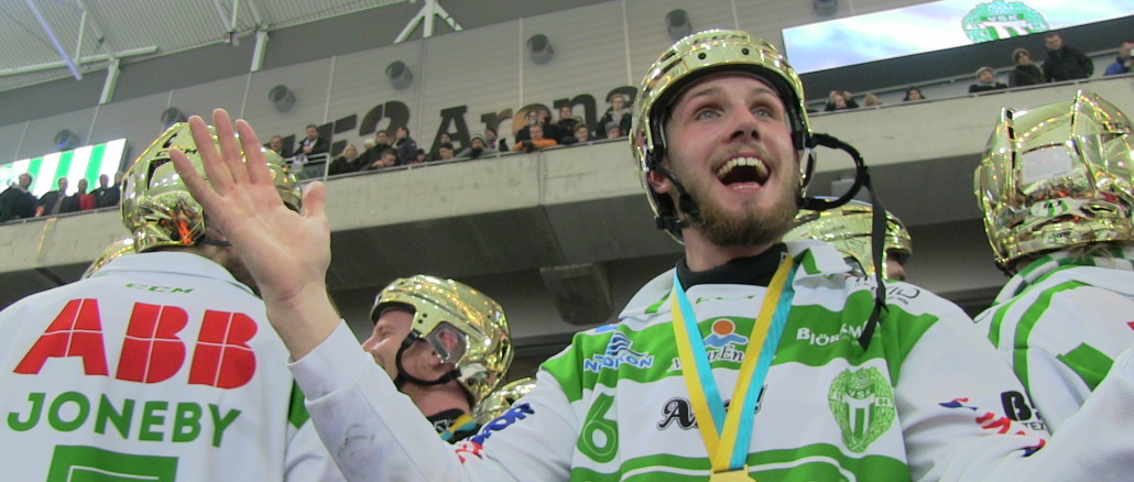 Västerås SK vann andra raka SM-Guldet i bandy 2015. Blir det tredje raka för Västerås SK och andra raka för Simon Jansson? Foto: Johan L Bandyworld Copyright